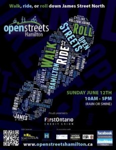 Open Streets Hamilton poster