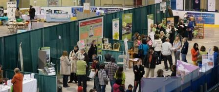 People making contacts at the Halton EcoFest in Oakville