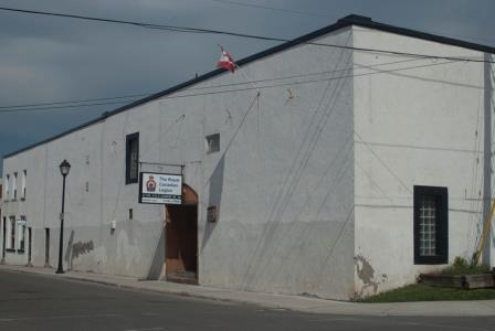 The Legion building before getting the artistic treatment