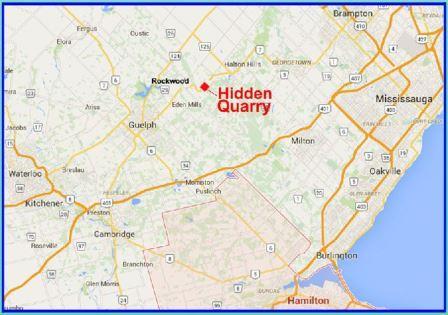 Location of proposed Hidden Quarry