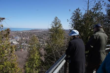 Enjoying the view from the Niagara Escarpment at Beamer Memorial Conservation Area