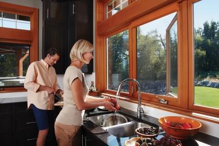 Couple at Kitchen Window w
