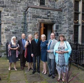 Seana's guests for dinner at the Provost's Lodge in Trinity