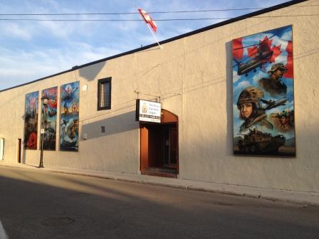 The Legion with Robert Johannsen's murals.