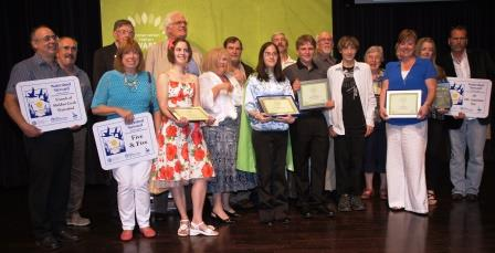 Some of the winners at the Conservation Halton Awards ceremony on June 24.