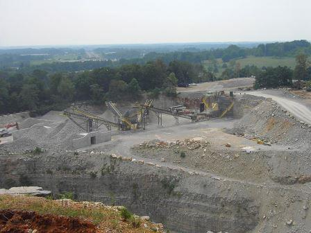 Limestone quarry in Tennessee, photo courtesy Wikipedia