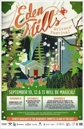 Eden Mills Writers' Festival has added a Sept. 14 event! Details below.