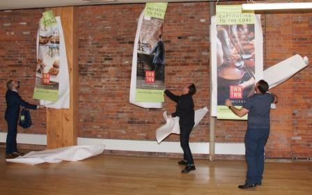 Unveiling the new street banners.