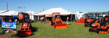 Roberts Farm Equipment displayed their Kubota products.