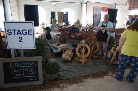 Wool spinning demonstrations took place all day long in a couple of locations.